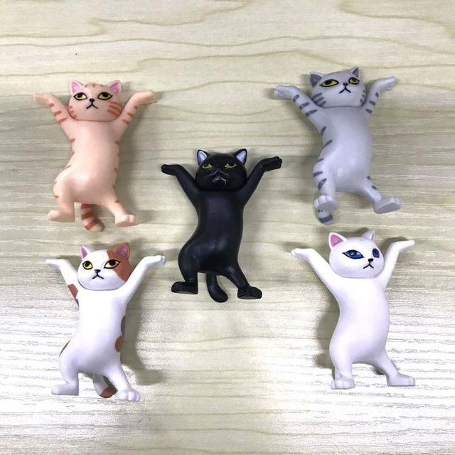 Cat pen holder black cat without coffin bracket Kids Funny Cat Pen Holder Kids Adult Doll Toy Gift Weightlifting Cat Pen holders 8