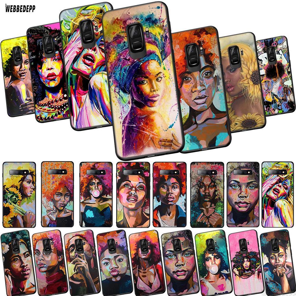 Lavaza Anette Tjaerby  Gal Afro Hair Pop Art TPU Phone Cover for Samsung Galaxy J4 Core J6 J8 2018 J7 Duo Note 8 9 10 Plus Case