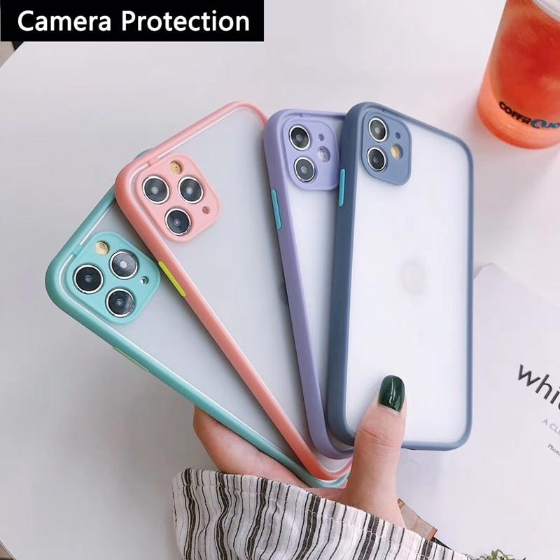 Camera Protection Bumper Phone Cases For Huawei P40 P30 P20 Lite 2019 P40 Pro Plus Matte Translucent