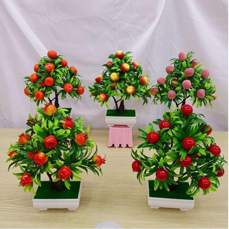 Flores artificiales falsas plantas artificiales maceta verde bienvenida Pino bonsái simulación Artificial maceta decoración del hogar