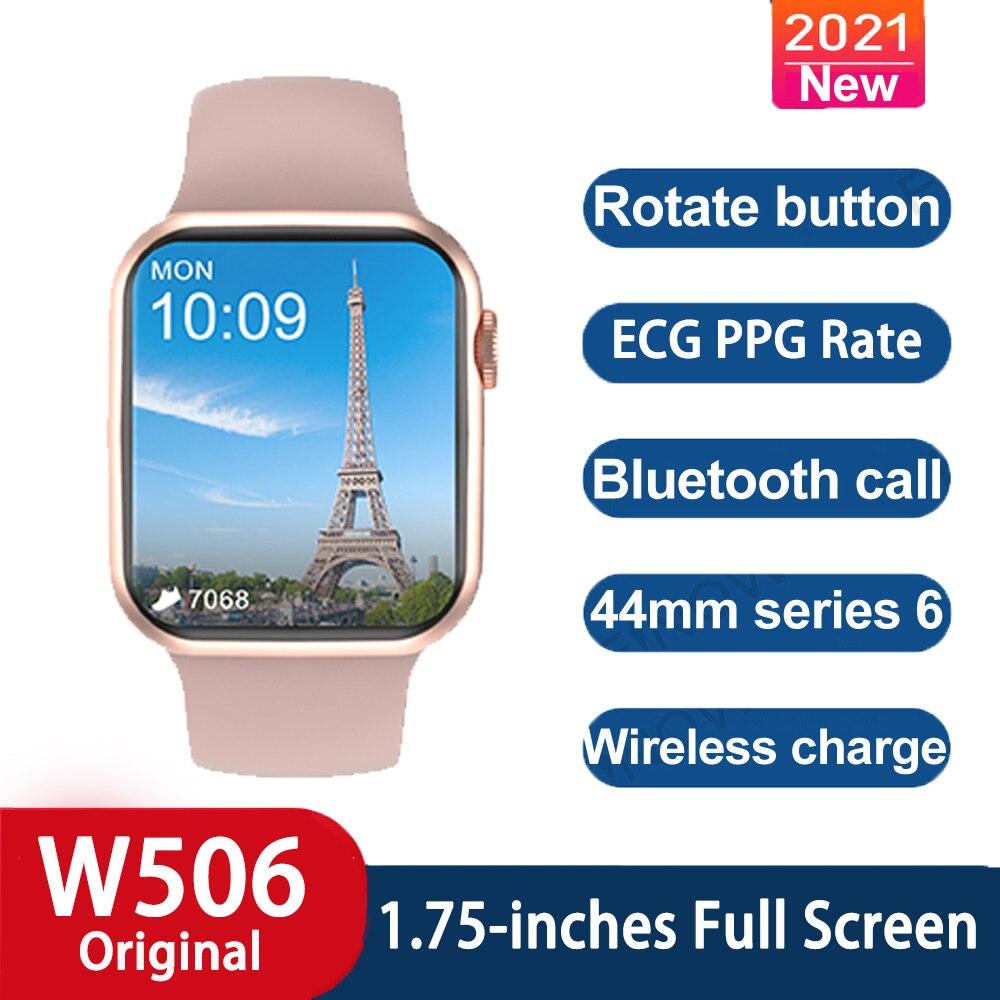 Microwear W506 Smartwatch تحديث للرجال النساء شاشة تعمل باللمس الكامل بلوتوث دعوة IP68 مقاوم للماء الرياضة على مدار الساعة ECG IWO ساعة ذكية