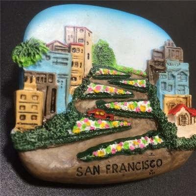 BABELEMI San Francisco USA turismo recuerdo 3D imanes de nevera casa creativa adorno para la nevera magnética pegatinas de regalo
