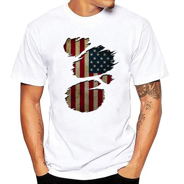 США Футболка мужская футболка с коротким рукавом мужская творчески Хлопковая мужская летняя футболка с круглым вырезом Футболка Топ; Тенни...