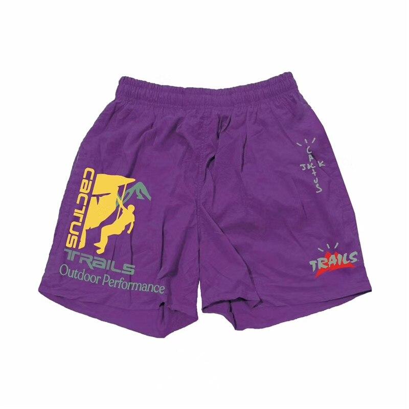 ¡Novedad! Pantalones cortos morados y negros con diseño de Cactus y Jack breechcloth de Travis Scott