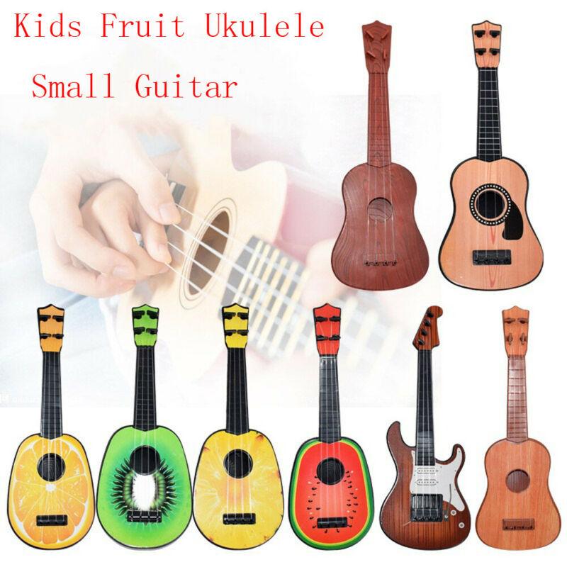 Crianças crianças brinquedos musicais frutas ukulele ukelele pequena guitarra instrumento musical brinquedo educativo quente