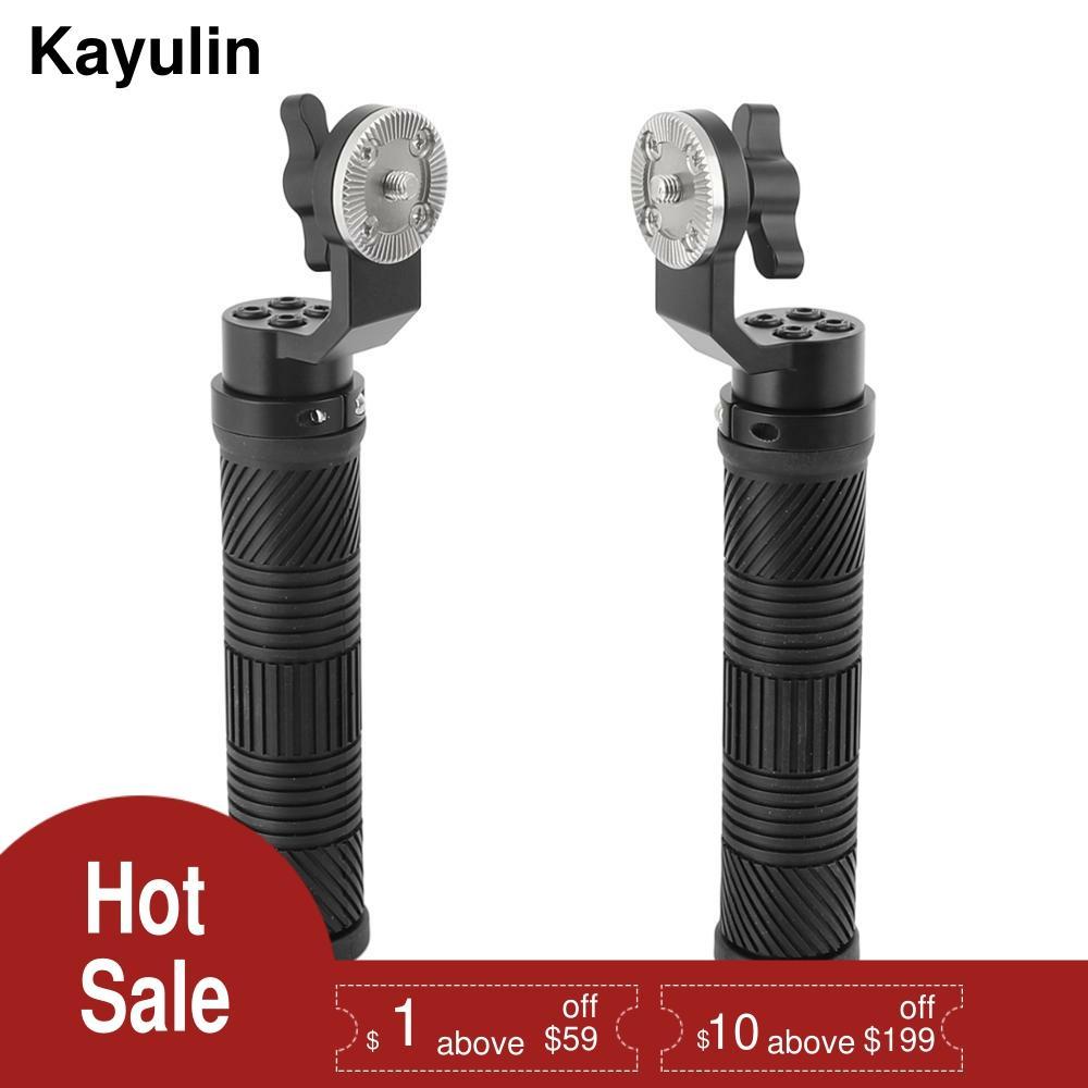 Фото - Kayulin Rubber Handle Grip Shoulder Rig ARRI Handle with ARRI Rosette for DSLR Video Camera Camcorder Action Stabilizing 2PCS arri