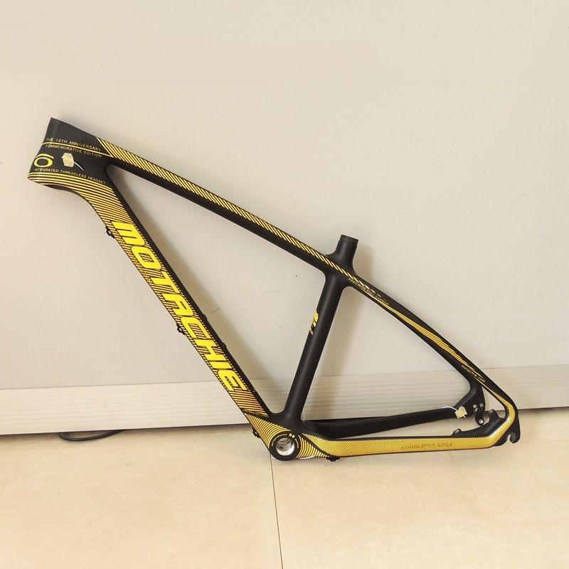 Marco de bicicleta MTB de carbono súper ligero Cuadro De Carbono Marco de bicicleta 27,5*17 pulgadas cuadros de bicicleta compatibles 26er sólo 1,2 kg