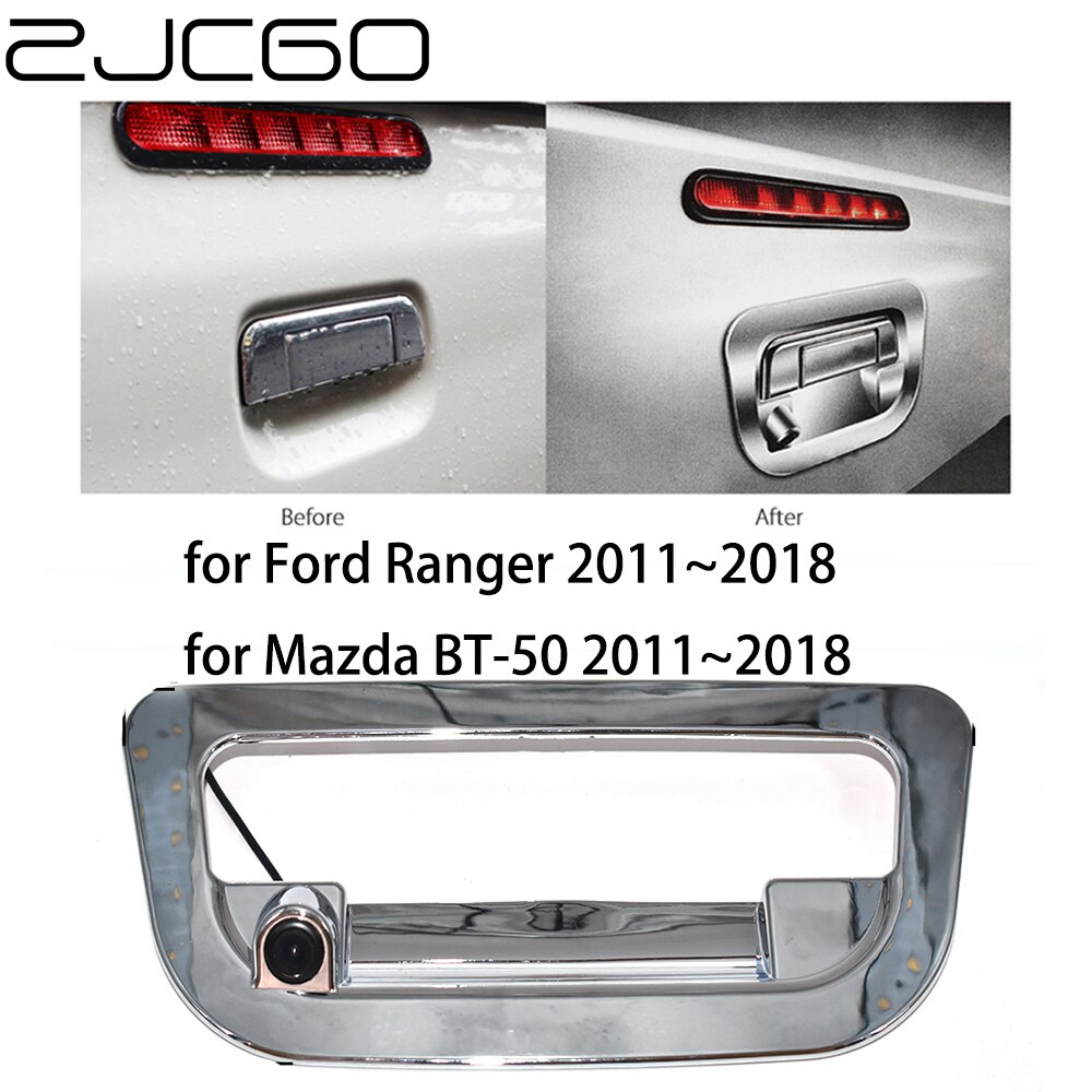 ZJCGO HD CCD coche retrovisor marcha atrás aparcamiento maletero manija cámara para Ford Ranger T6 para Mazda BT-50 BT50 Up UR 2011 UR 2018