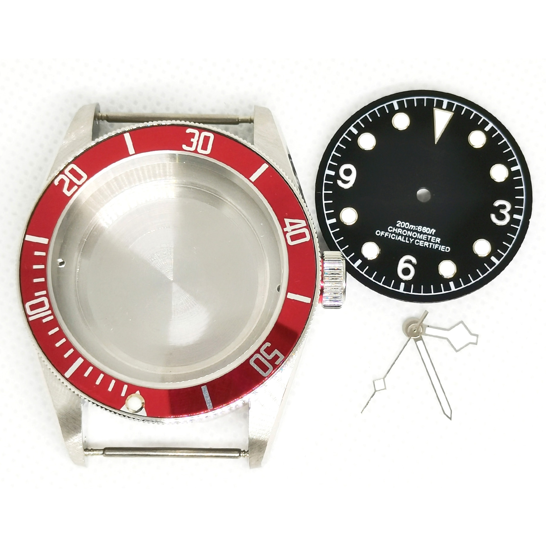 40MM 316 Stainless Steel Man's Watch  Case Dial And Hands Set For Automatic Movement ETA 2836 ST2130 miyota 8215 enlarge