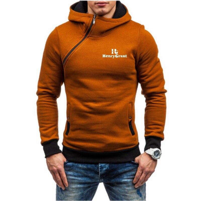 Мужские осень-зима свободного покроя с высоким, плотно облегающим шею воротником с капюшоном 2020 Новая модная мужская с капюшоном Кофты мужс...