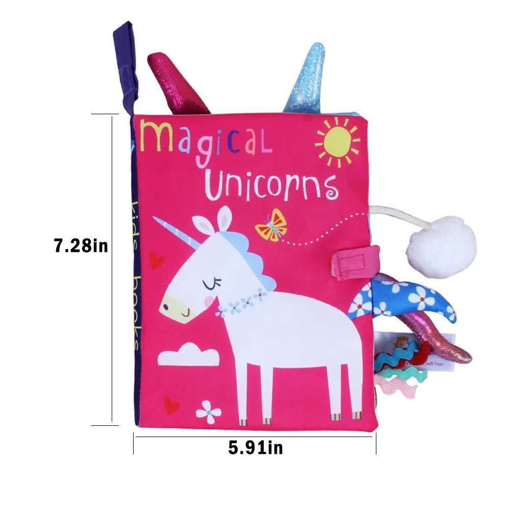 Libros para niños, libro de tela para bebés de aprendizaje temprano, libro interactivo con sonido interactivo para padres e hijos, rompecabezas de papel, libro de tela de juguete