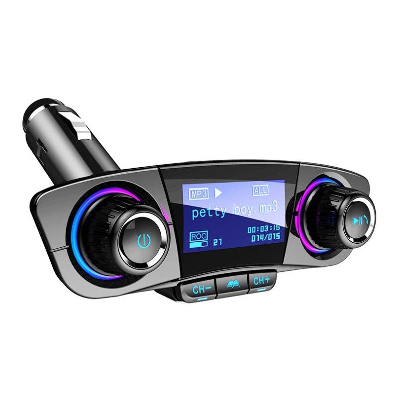 Audio Car MP3 Player USB Modulator Bluetooth FM Transmitter LED Dual USB Mobile Phone Handsfree Disp