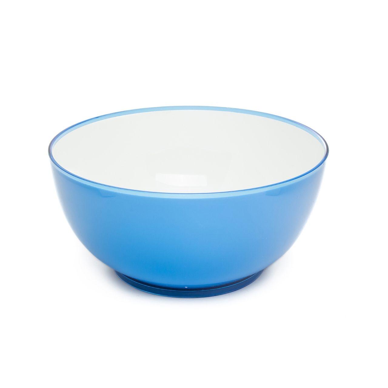 Tigela de Salada Azul-branco Redonda 2 Cor