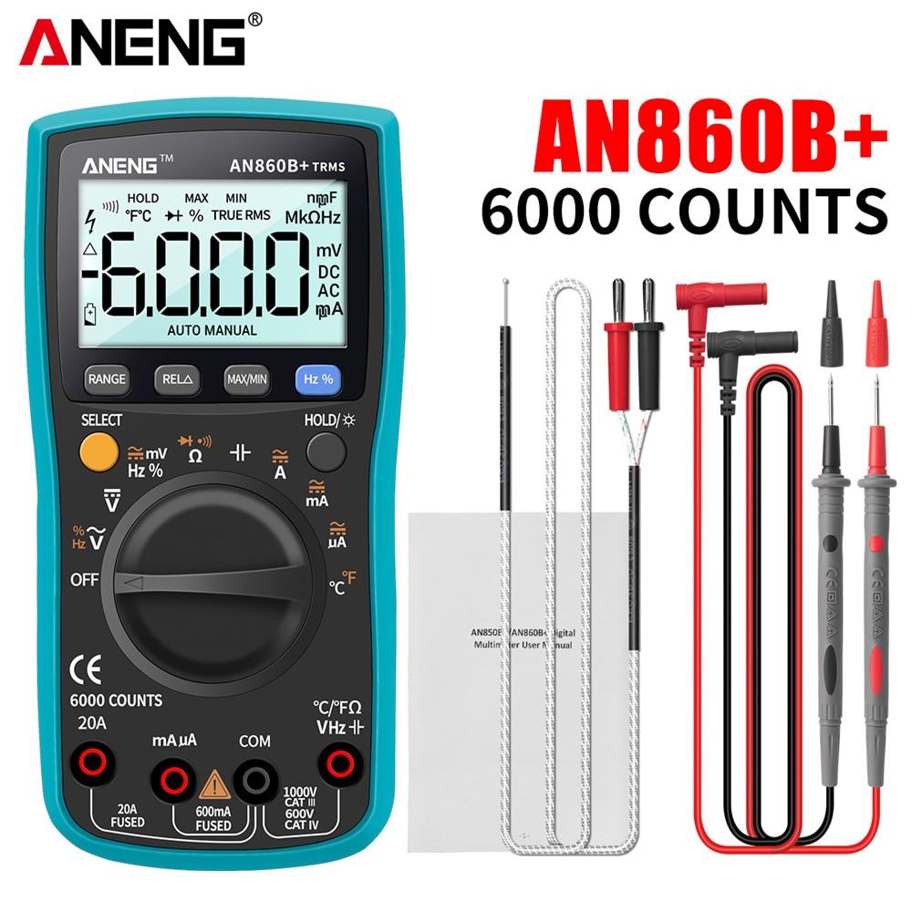 ANENG AN860B + الرقمية المهنية المتعدد السيارات المدى الخلفية التيار المتناوب/تيار مستمر التيار الكهربائي مقياس التيار الكهربائي أوم اختبار تردد ...