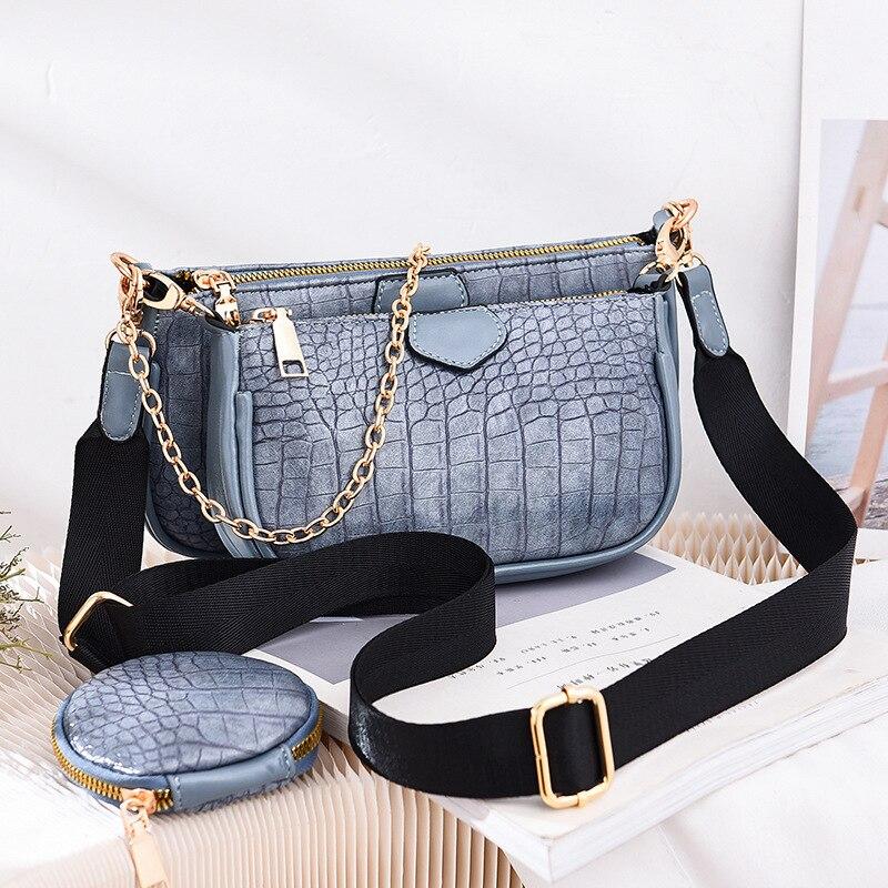 Bag Women's 2020 New Bag Three-Piece Fashion All-match Chain Shoulder Messenger Bag luxury brand handbags