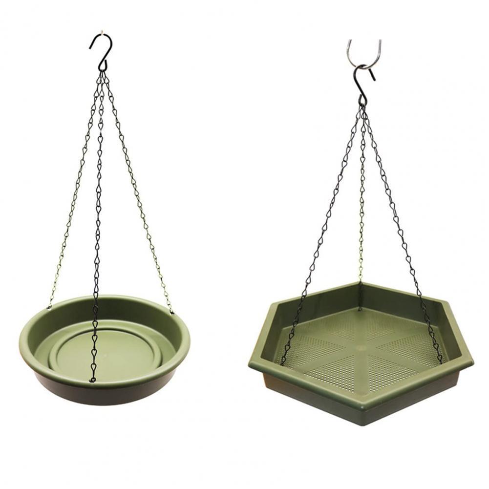 2Pcs/Set Bird Feeders Convenient Easy to Install Plastic Outdoor Hummingbird Feeding Plates Trays for Yard
