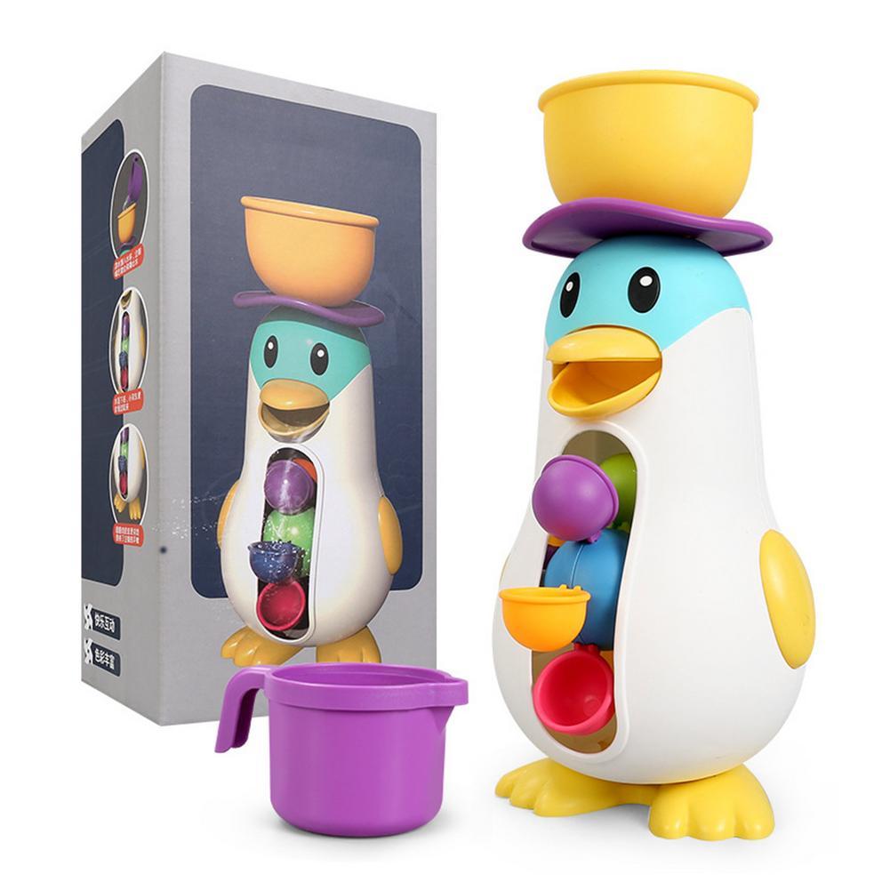 Детский купальник в ванной с игрушкой для купания в воде, ветряная мельница, пингвин, водный круг, крутящийся вокруг для развлечения
