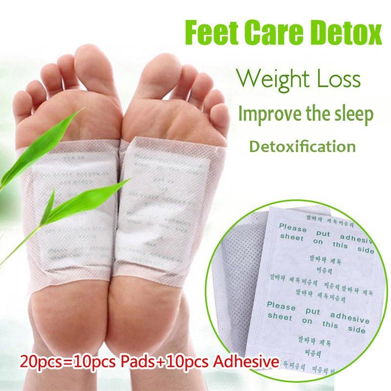 10 pçs/lote remendos de pé desintoxicação artemisia argyi almofadas toxinas pés emagrecimento limpeza erval corpo saúde adesivo almofada perda de peso