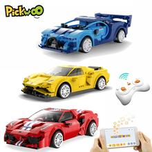 Pickwoo D25 City RC Racing Car Building Blocks Compatible MOC high-tech Remote Control Super Sports