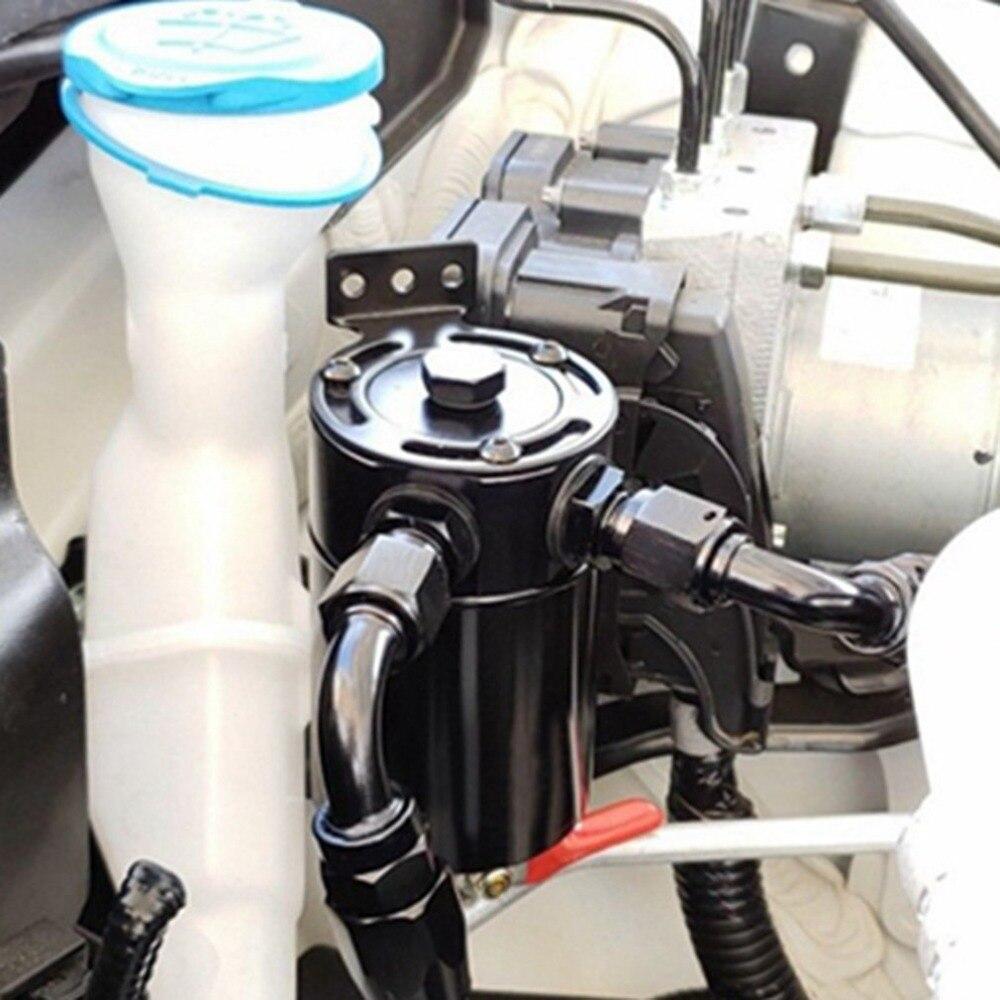 New Compact Perplexo Captura Lata de Óleo Óleo 2 2-Porta-buraco de Ventilação Pode Resíduos de Recuperação de Resíduos de Óleo de Gás pot Acessórios Do Carro
