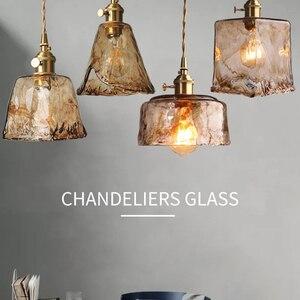 Nordic Modern Brass Glass Pendant Lights Hanglamp Pendant Lamp For Bedroom Living Roon Bar Kitchen Decor Hanging Lamp E27 Bulb