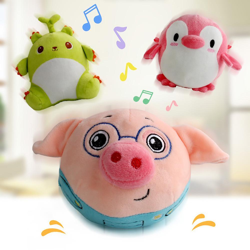 Animal de dibujos animados, bola vibradora electrónica, muñeca de felpa eléctrica, juguete de salto, vaso musical, regalos bonitos para niños