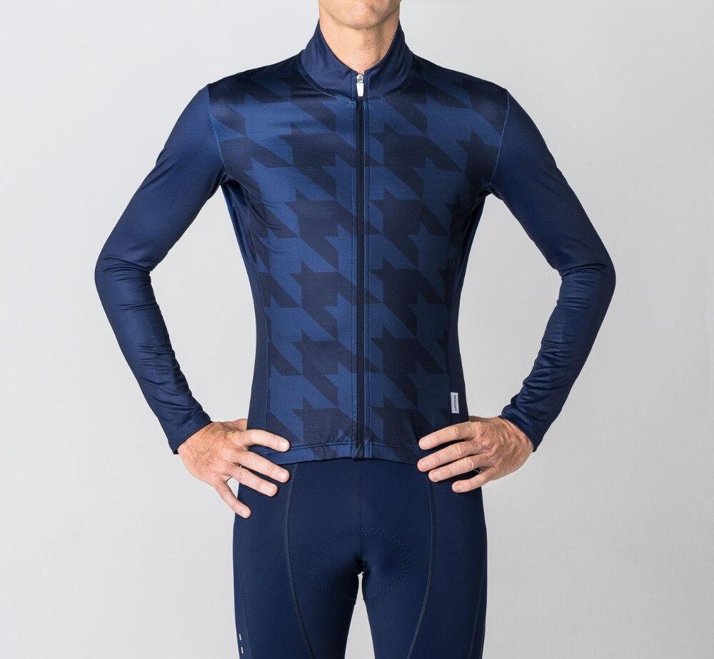 Ropa de ciclismo profesional para hombre, maillot de manga larga de lana...