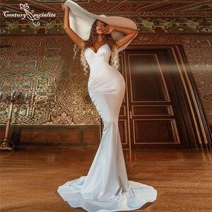 Simple Long Evening Dresses Mermaid 2021 Sweetheart Zipper Back Elegant Formal Dress Prom Party Gowns Robe De Soiree Cheap