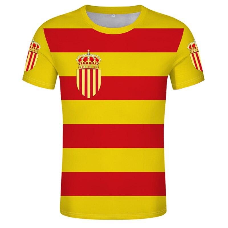 Camiseta de CATALONIA con número de nombre, camiseta de barcelona con texto...