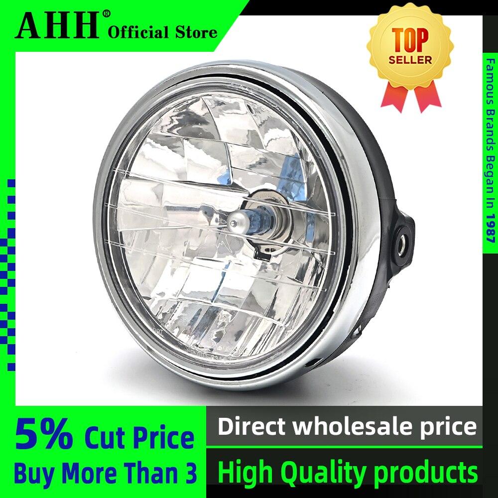 """AHH 7 Universal """"8"""" Rodada Motocicleta Farol Lâmpada Farol Head Light Para HONDA Cb400 Cb500 Cb1300 Hornet 250 600 900 Vtec Vtr"""