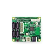 Taidacent 12V Netzteil NanoPi M4 SATA HUT PCIe zu 4-port SATA 3,0 Quad SATA HUT RK3399 entwicklung Expansion Board