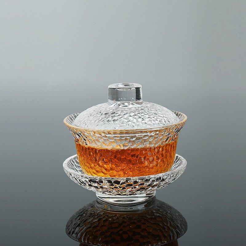 إبريق شاي Gaiwan زجاجي مقاوم للحرارة مصمم صيني لبير Gaiwan كوب شاي عالي الجودة أدوات للشرب هدية فريدة من نوعها
