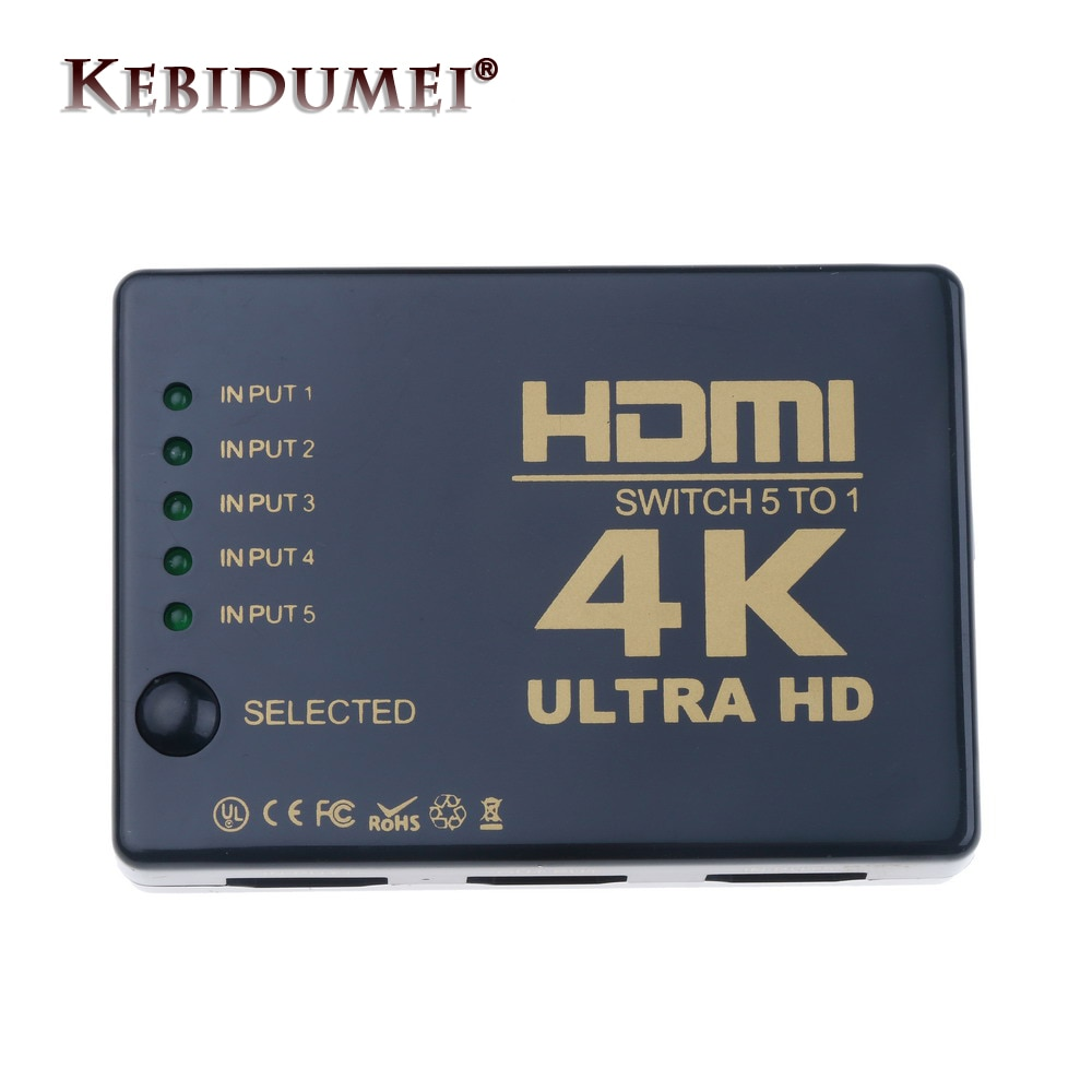 ¡Oferta! Mini interruptor HDMI 4K HD1080P 3 5 puertos HDMI interruptor Selector divisor con Hub IR control remoto para HDTV DVD TV BOX Z2