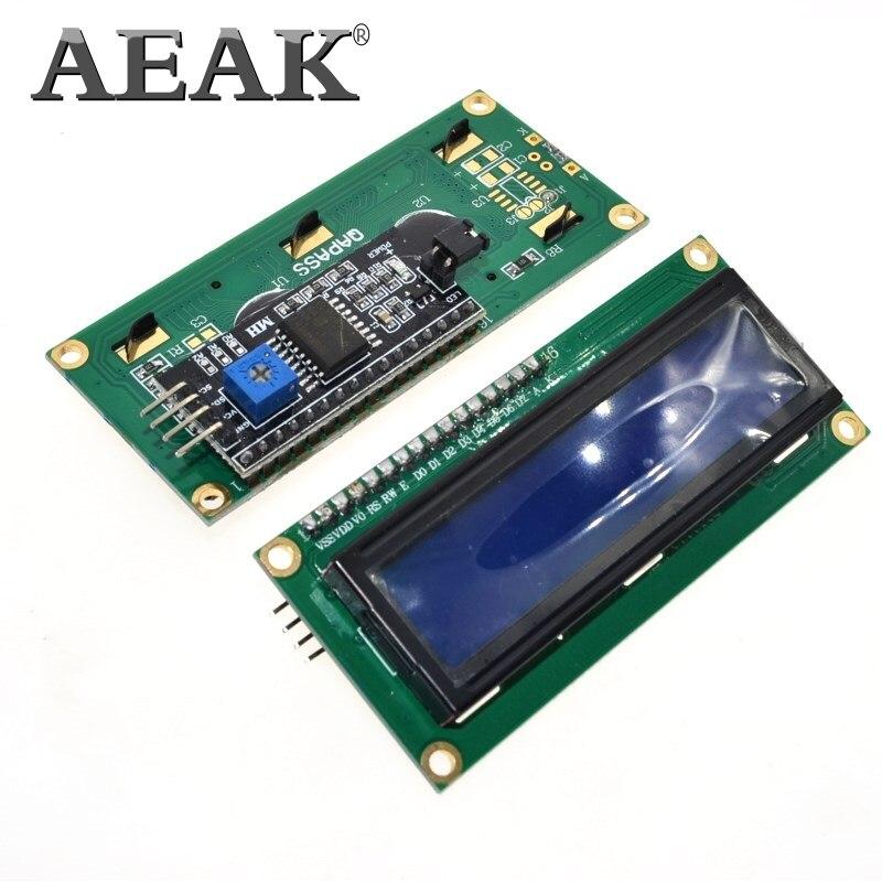AEAK 1 Uds módulo LCD pantalla azul IIC/I2C 1602 para arduino 1602 LCD UNO r3 mega2560 LCD1602