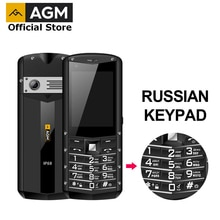 Russian Keypad AGM M5 Simplified Android OS 4G LTE Type C Touch Screen IP68 Waterproof Rugged Featur