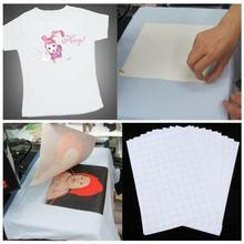 50 pièces/ensemble t-shirt A4 transfert papier fer sur presse à chaud tissus légers impression à jet dencre papier dimpression pour t-shirts A4 Craft