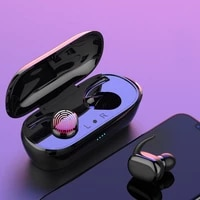 tws wireless bluetooth 5 0 fingerprint touch earbuds built in mic super bass stereo sports headphone headset with charging box