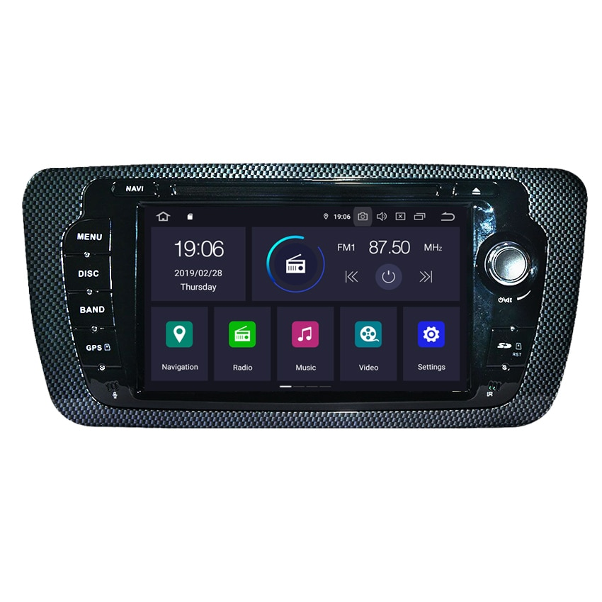 android 9.0 2g+16g car multimedia autoradio stereo for seat ibiza gps navigation