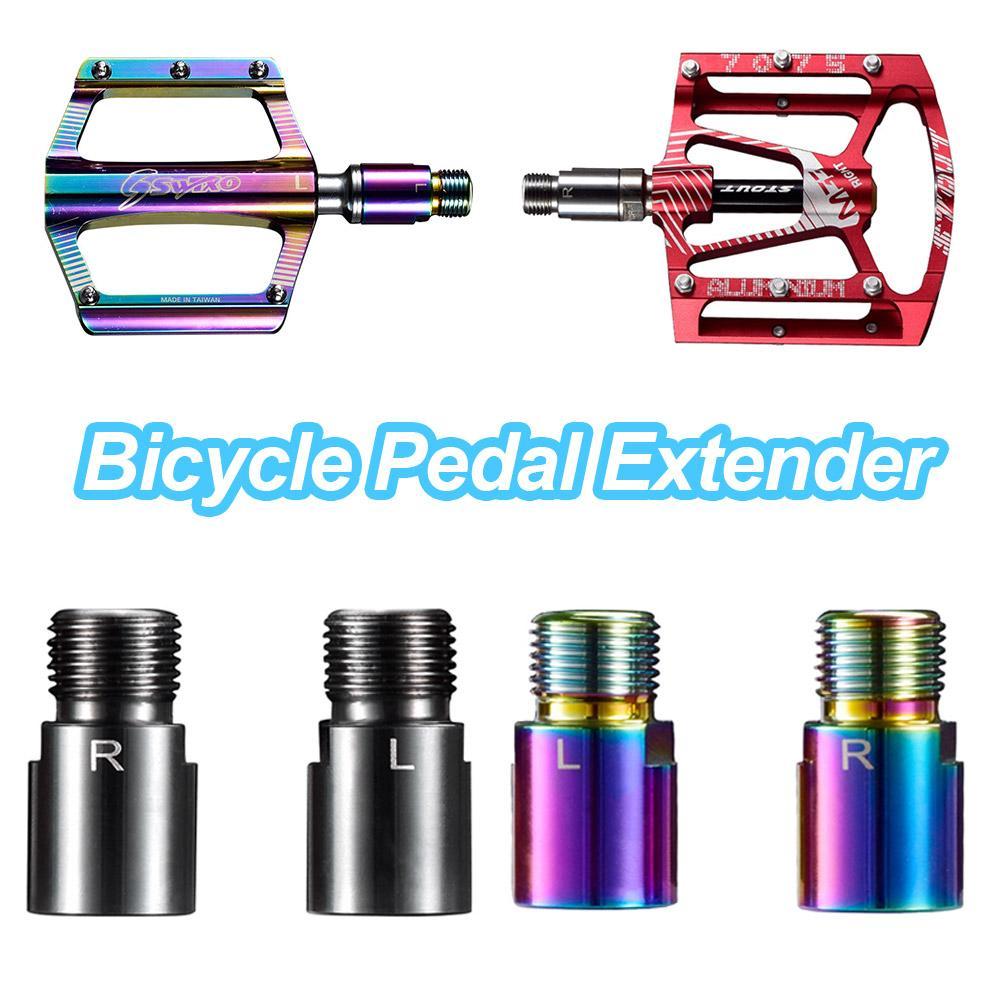 Extensor de Pedal de bicicleta de montaña herramienta de extensión de manivela de Pedal de ahorro de esfuerzo pedales anchos cómodos accesorios de pedales Mtb Dropship