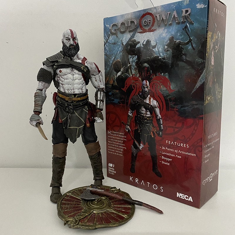 NECA God of War 3 duch sparty Kratos PVC figurka-Model kolekcjonerski zabawki lalki prezent