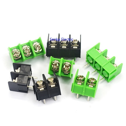 100pcs KF7.62 Barrier Terminal Block 300V/20A 2P/3P/4P 7.62mm Stitchable PCB Terminal Connector Straight-Pin Terminal Blocks