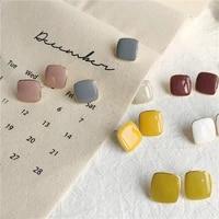 colorful crip glaze earrings for women geometric earrings temperament gentle french earrings jewerly accessories