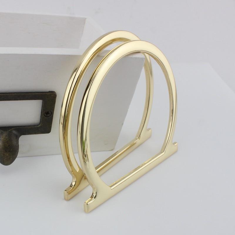 Zinc alloy made bags handbags handle,Make your own bag purse handle For Bolsa Feminina looking Metal Solid handles