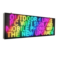 """WIFI Programmable led sign full color 39""""X14"""" P10 outdoor SMD Scrolling message LED display"""
