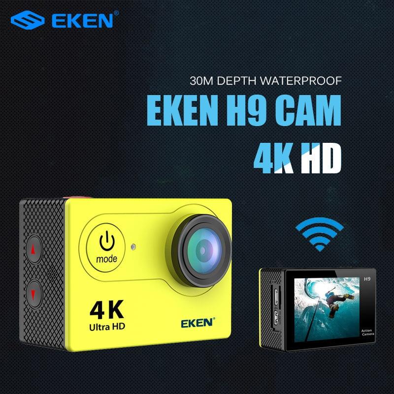 قادم جديد! الأصلي Eken H9R / H9 الترا HD 4K عمل كاميرا 30m مقاوم للماء 2.0 'شاشة 1080p كاميرا رياضية الذهاب المتطرفة برو كام
