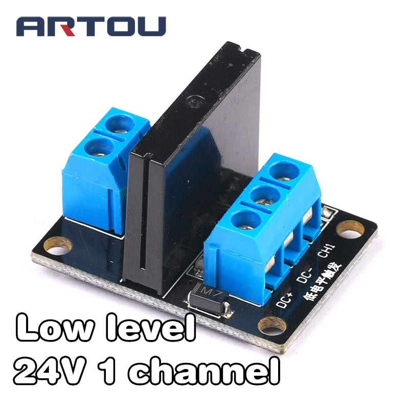 24V 1 Channel Solid State Relay Module Low Level Relay DC-AC PCB SSR AVR DSP for arduino Diy Kit