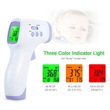 Offre spéciale sans contact termometro infrarouge IR température mètre numérique température pistolet LCD affichage termometro avec alarme de fièvre