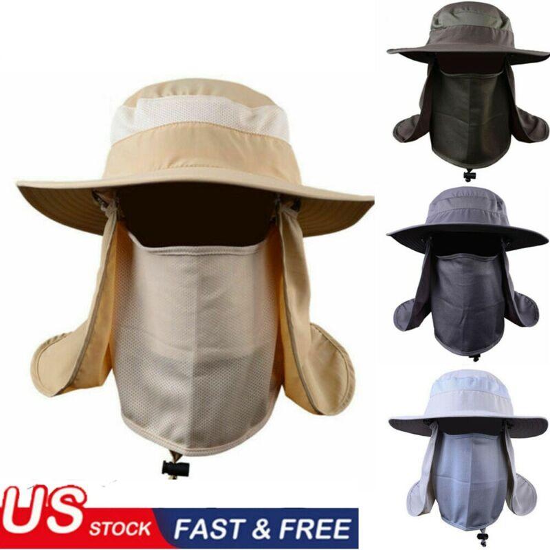 Уличная рыболовная шляпа с защитой от солнца, шейный щиток для лица, с широкими полями, тактическая шляпа Boonie, военная камуфляжная Панама, за...