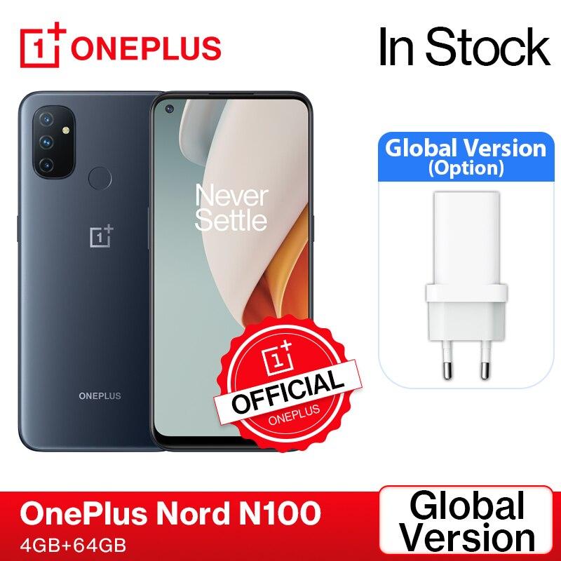 OnePlus Nord N100 Смартфон глобальная версия, 4 ГБ, 64 ГБ, 90 Гц, экран 6,52 дюйма, 18 Вт, быстрая зарядка, разблокировка распознаванием лица, Официальный ма...