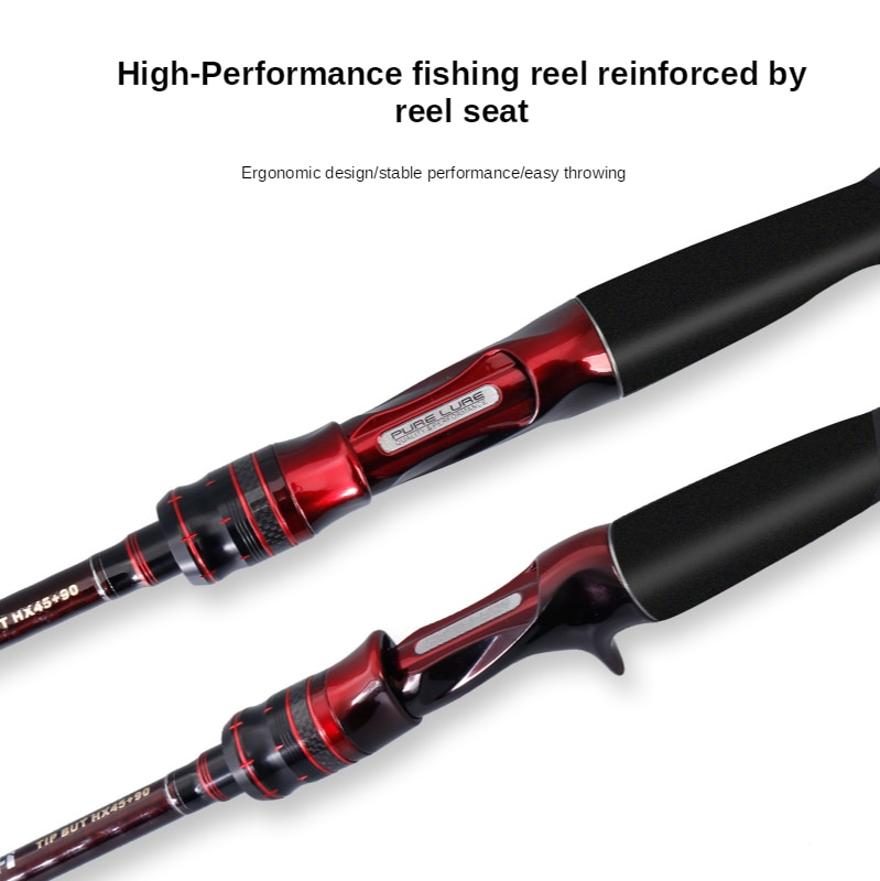 Kingdom Fishing Rod Ultralight 1.98/2.13/2.16/2.26/2.28/2.33/2.43M 2 Section L/ML/M/MH Power Fuji Guide Rings Carbon Casting Rod enlarge